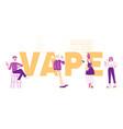 vape shop business and smoking addiction concept vector image