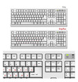 White Computer keyboards vector image vector image