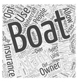 Winter boat insurance Word Cloud Concept vector image vector image