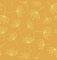 yellow abstract flowers seamless background vector image