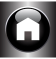 House icon on black button vector image