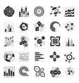 Business Chart Black And White Set vector image