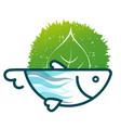 fish eco symbol vector image