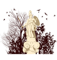 beauty Athena statue vector image