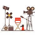 film directors workplace chair megaphone vector image