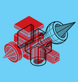 abstract geometric form 3d creative shape vector image vector image
