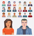 Abstract people icons vector image vector image