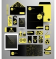 Abstract polygonal business set vector image