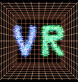 abstract vr world with neon lines virtual reality vector image