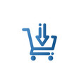 add to cart icon vector image vector image