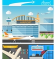 Airport building and travel concept vector image vector image