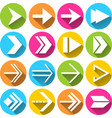 Arrow Symbols Icons Set vector image vector image