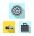 auto and part sign set of vector image