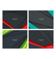 backgrounds set vector image vector image
