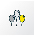 balloons icon colored line symbol premium quality vector image vector image
