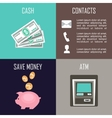 Banking set icons vector image
