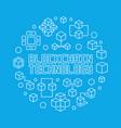 blockchain technology blue circular line vector image vector image
