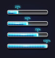 blue progress bar loading template for app vector image