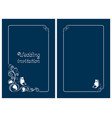 blue wedding invitation and save the date cards vector image