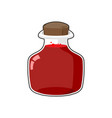bottle health games transparent glass bank with vector image vector image