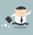 Business fat Running Late vector image