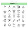 business line icon set - 25 dashed outline style vector image