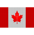 Canada flag embroidery design pattern vector image vector image