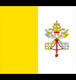 closeup flag vatican city vector image