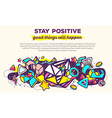 colorful abstract composition with header vector image vector image