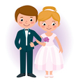 Couple newlyweds bride and groom vector image vector image