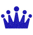 crown icon grunge watermark vector image
