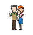 cute couple dad and mum with her baby vector image vector image