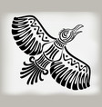 decorative stylized bird crows in the ethnic style vector image