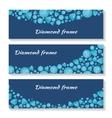 Diamond Frame Templates Set Jewelry Diamonds vector image vector image