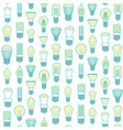 different lamp or light bulbs line background vector image vector image
