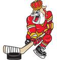 dukes sports hockey logo mascot vector image vector image