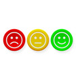 face smile icon positive negative buttons vector image