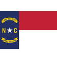 flag of the usa state of north carolina vector image
