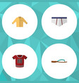 flat icon dress set of underclothes t-shirt vector image vector image