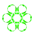Flowers ribbon vector image vector image