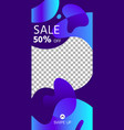 fluid shapes story abstract sale social media vector image vector image