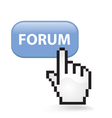 Forum Button vector image vector image