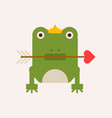 frog with crown and arrow vector image