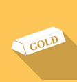 gold bar isolated on long shadow vector image