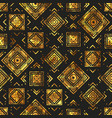 gold vintage geometric pattern vector image