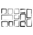 grunge frames dirty borders with black paint vector image