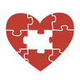 heart puzzle a vector image