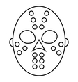Hockey mask icon outline style vector image vector image