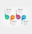 horizontal steps timeline gradient infographics vector image vector image