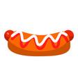 hot dog with ketchup and mayo street fast food vector image vector image